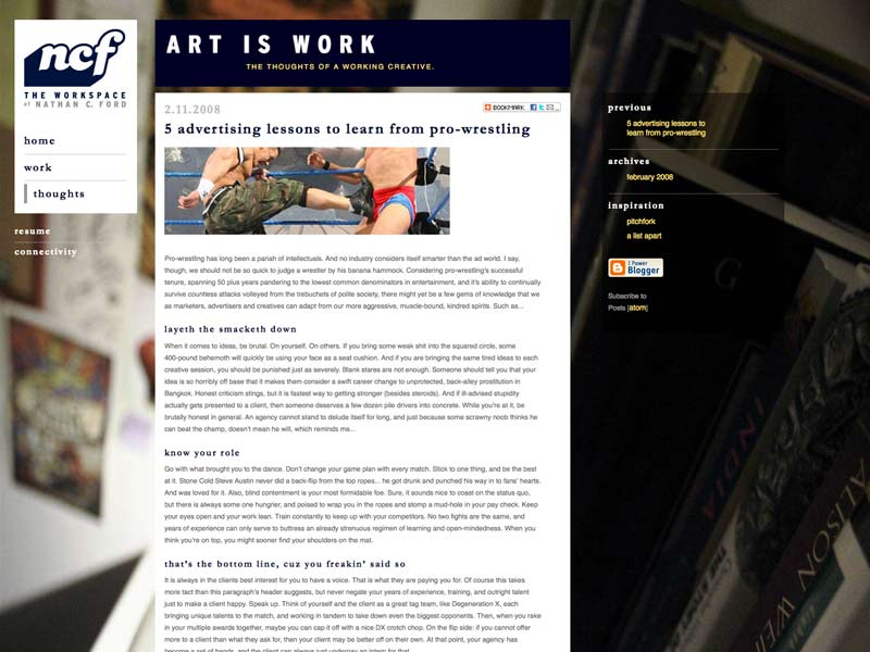Art=Work in 2007
